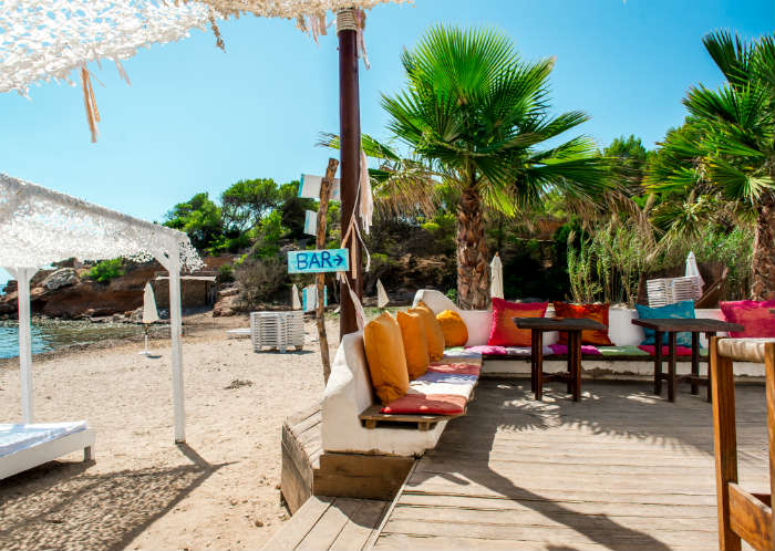 Beach bars in Ibiza