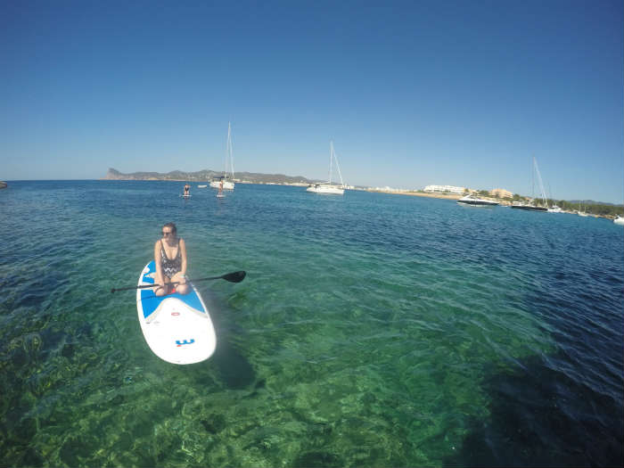 Paddle boarding in Ibiza