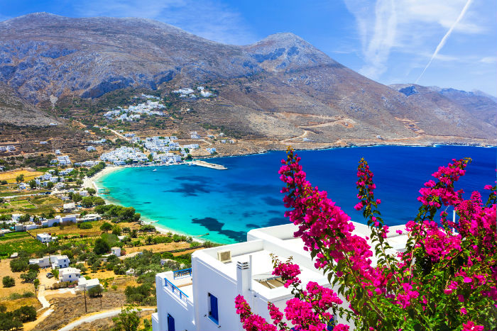 Beach In Amorgos, Greece