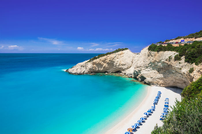 Beach In Lefkada, Greece