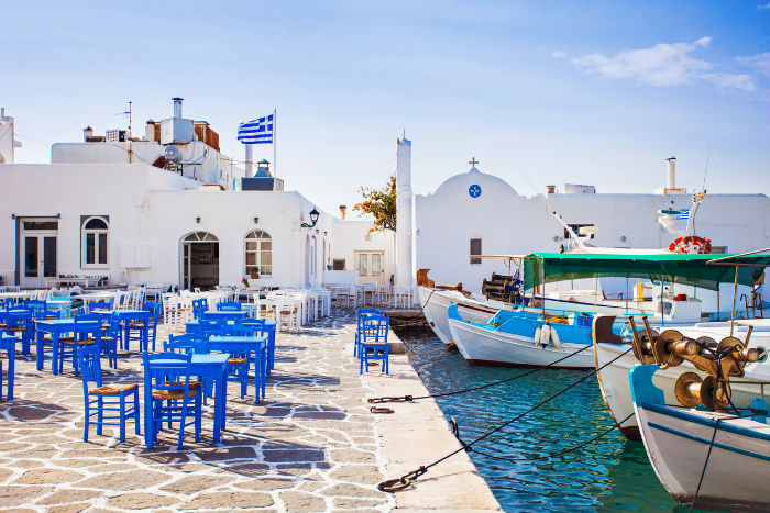 Beach In Paros, Greece
