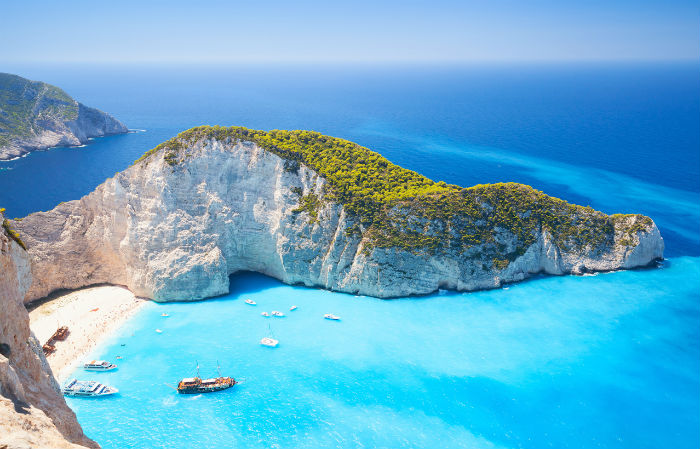 Beach In Zante, Greece