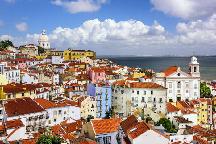 The Alfama district in Lisbon