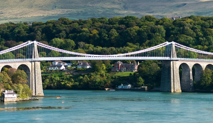 Menai Bridge In North Wales