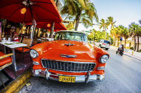 Car in South Beach Miami