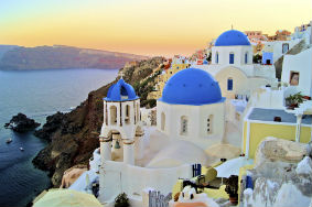 White Buildings of Oia Santorini