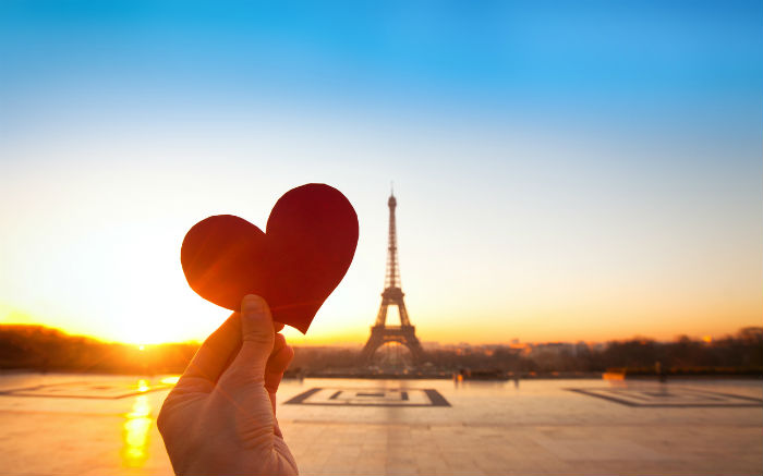 Love Heart By The Eiffel Tower