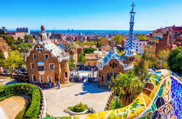 View Of Park Guell, Barcelona