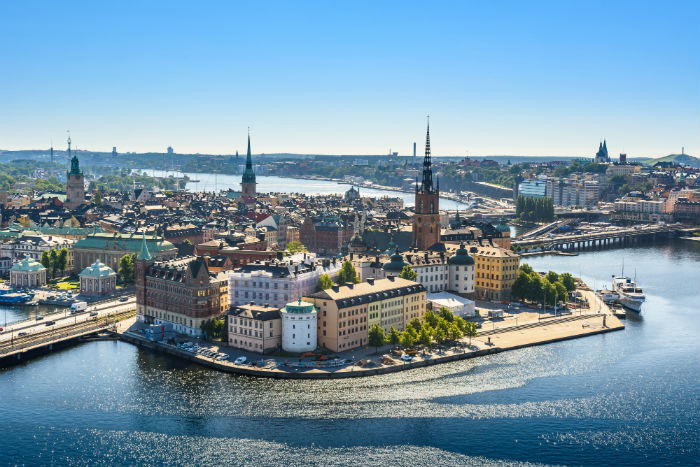 Wide Shot Image Of Stockholm, Sweden
