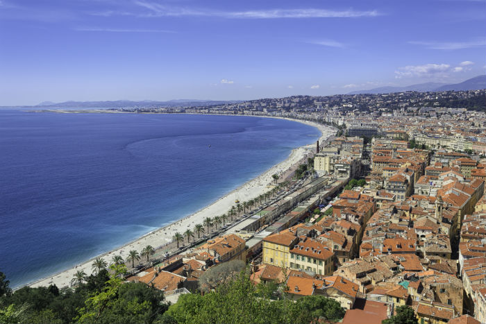 Beach In The French Riviera