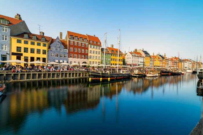 Nyhavn Area in Copenhagen