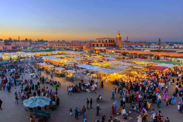Busy Market in Marrakesh