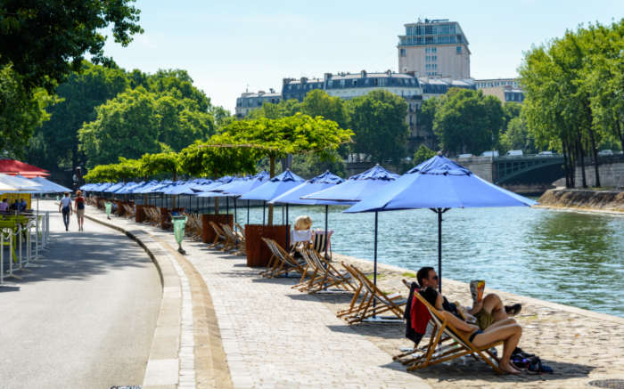 Pop up beach Paris