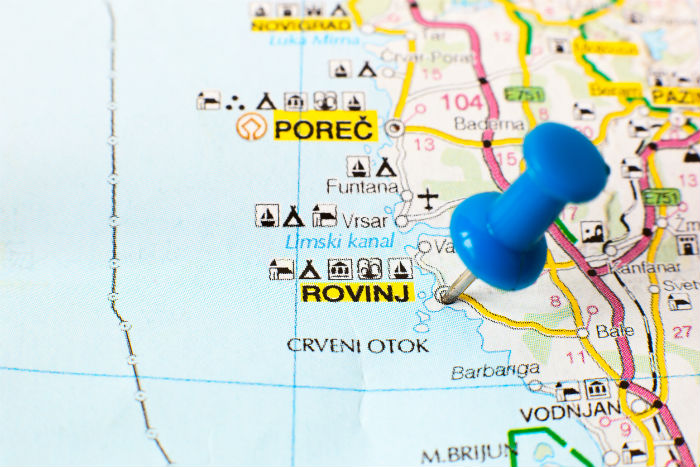 Rovinj On Map Of Croatia