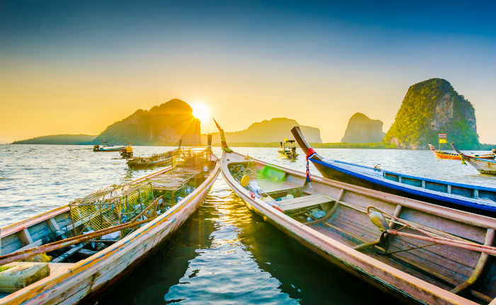 Tall Boats By Thai Islands