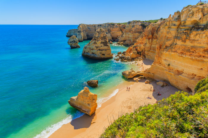 Beach In The Algarve, Portugal
