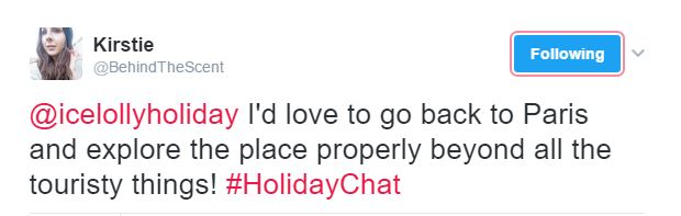 February 2017 #HolidayChat - Kirstie