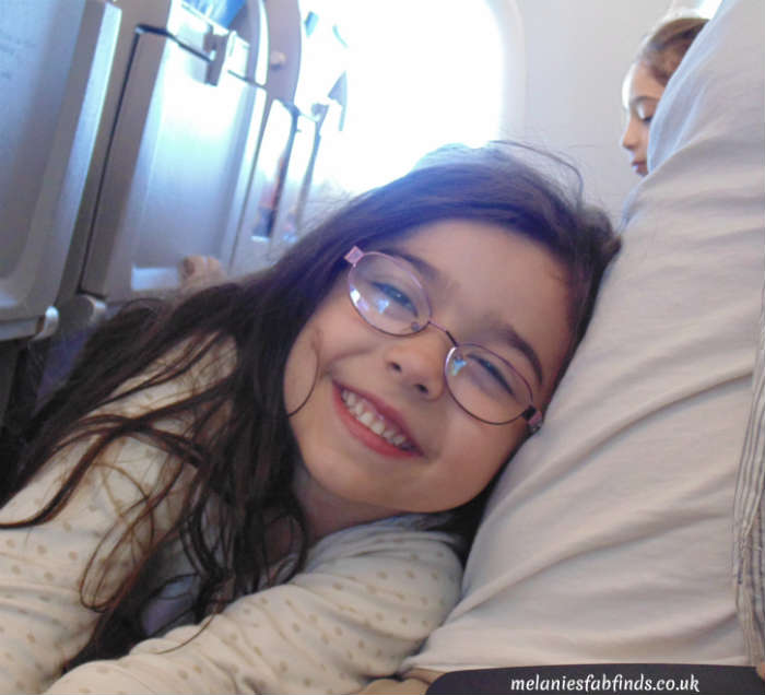 Happy Child On Plane