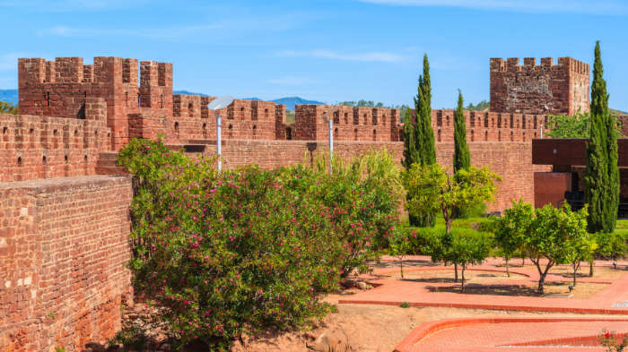 Silves castle in the Algarve