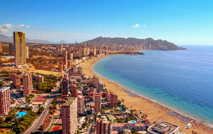 Aerial View Of Benidorm Coastline