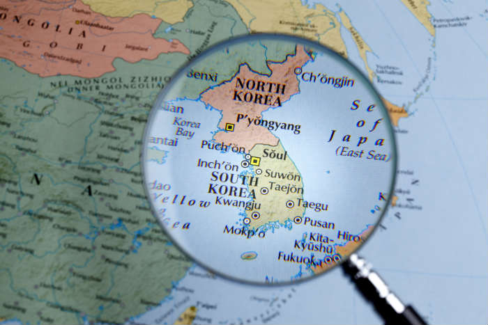 North Korea on Map