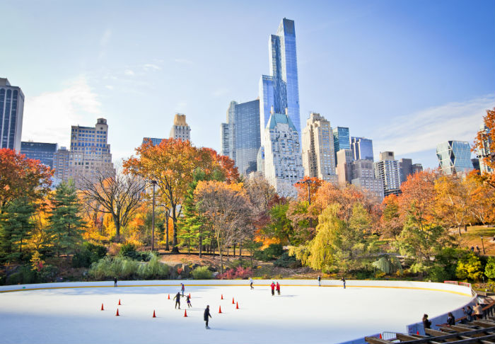 Ice Skating Rink In Central Park