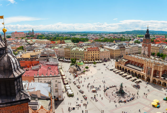 Aerial Shot of Krakow Centre
