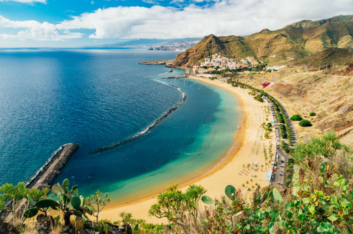 Beach In Tenerife From Above