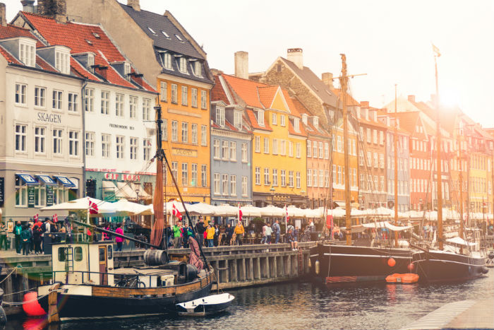 Nyhavn Waterfront In Copenhagen, Denmark