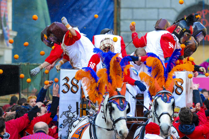 The Battle of the Oranges Festival