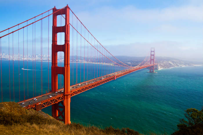 Things you need to do on a weekend in San Francisco - The Golden Gate Bridge in San Francisco