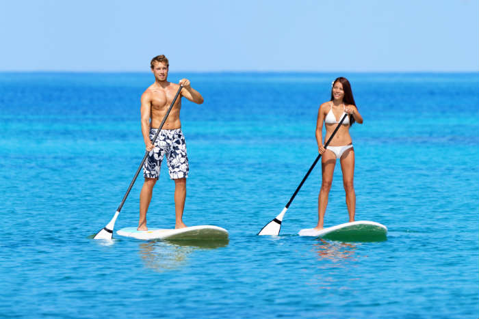 Adventure sports in Ibiza - paddleboarding