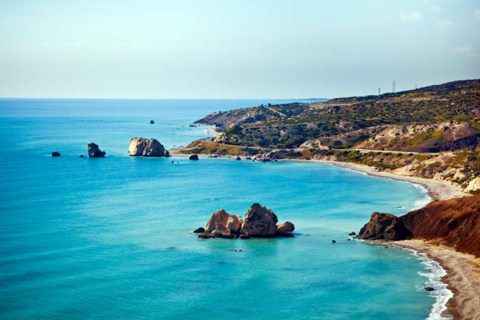 Aphrodite's Rock, Cyprus-alternative to Spain
