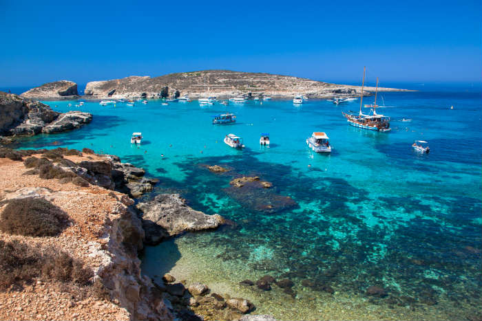 Comino island, Malta-alternative to Spain