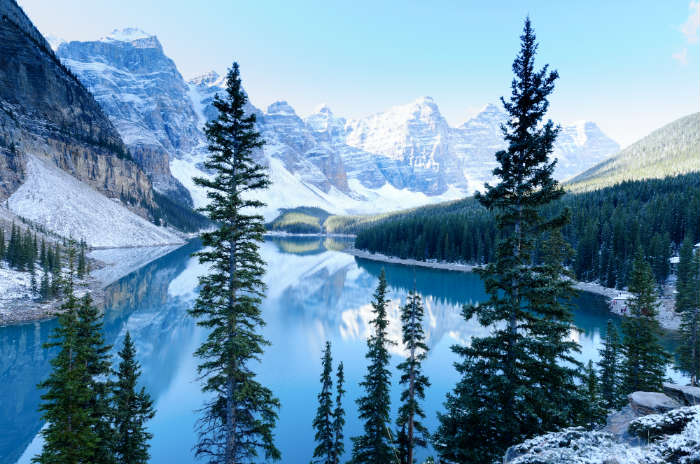 Lake Moraine in Banff, Canada