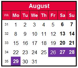 how to make the most of annual leave-August calendar