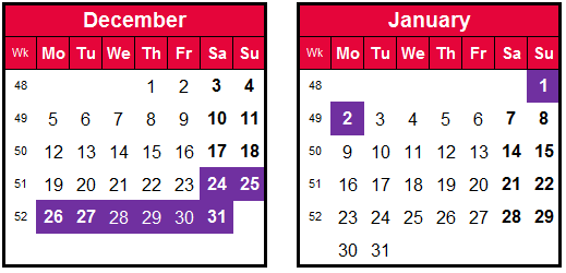 how to make the most of annual leave-December calendar