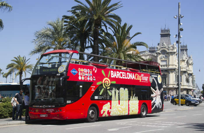 Open top bus tour, Barcelona