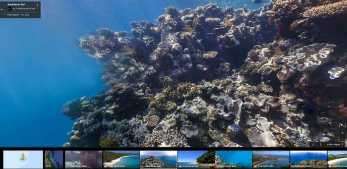 Great Barrier Reef on Google Maps