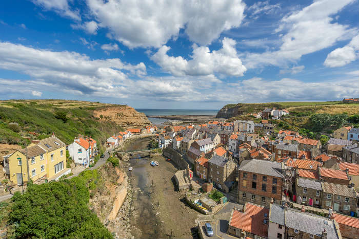 Staithes beach town, Yorkshire