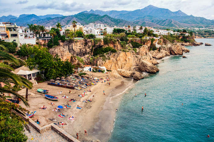 Beach in Nerja, Costa del Sol
