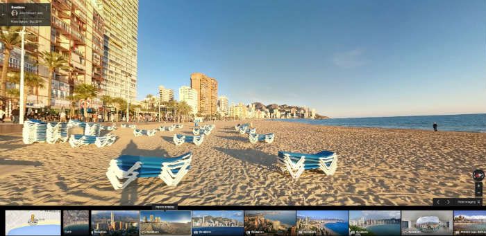 Benidorm Beach on Google Maps