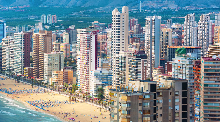 Benidorm high-rise hotels