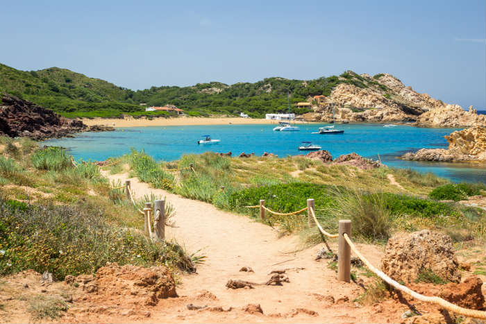 Cala Pregonda beach in Menorca