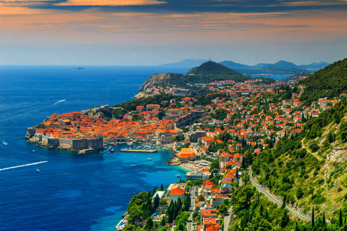 Dubrovnik and countryside, Croatia
