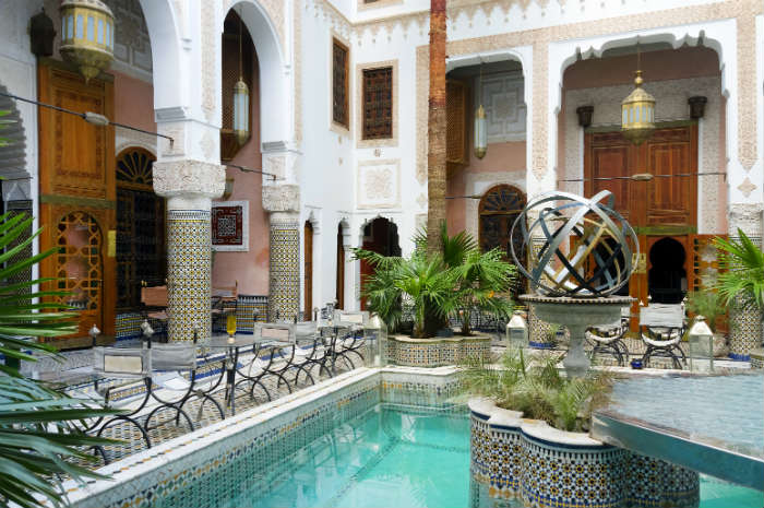 A traditional riad with pool in Marrakech
