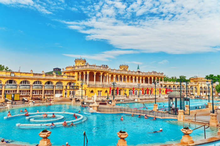Outdoor pools at Szechenyi Thermal Baths, Budapest