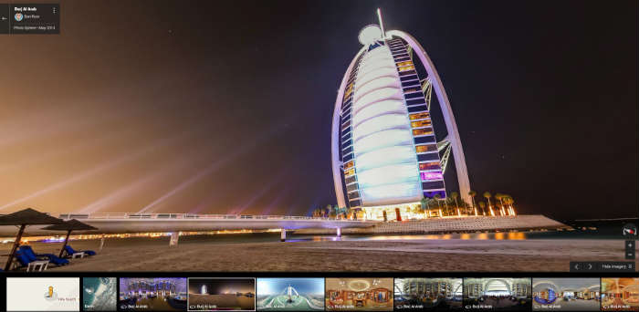 Burj Al Arab on Google Maps