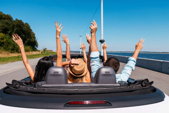 Renting a car abroad - friends