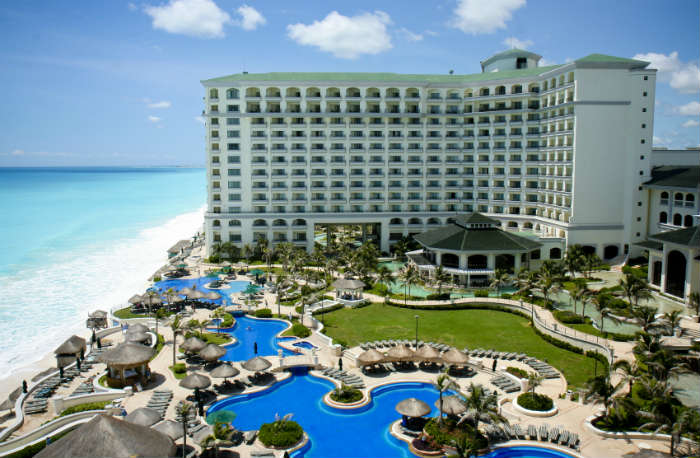 All inclusive hotel resort in Cancun, Mexico
